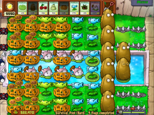 Winning Plants vs Zombies Survival Pool (Hard)